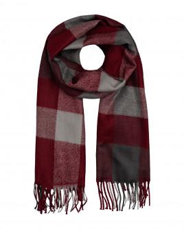 Красный клетчатый шарф Gulliver