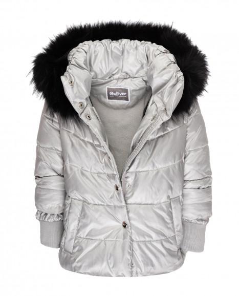 Зимняя куртка серебряного цвета