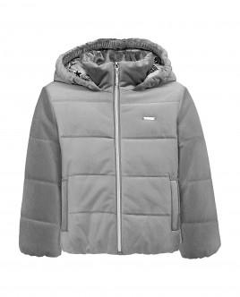 Купить со скидкой Серая демисезонная куртка