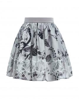 Серая юбка с орнаментом Gulliver