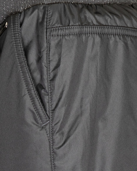 Серые утепленные демисезонные брюки