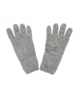 Grey knitetd gloves Gulliver