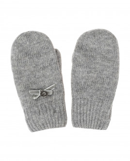 Grey knitted mittens Gulliver