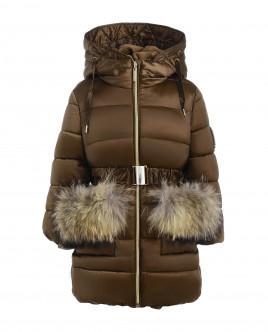 Бежевое зимнее пальто Gulliver
