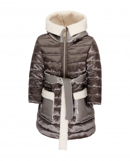 Grey quilted coat Gulliver
