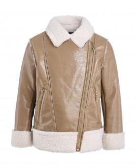 Купить 21902GMC4507, Бежевая демисезонная куртка, Gulliver Wear, бежевый, 128, Женский