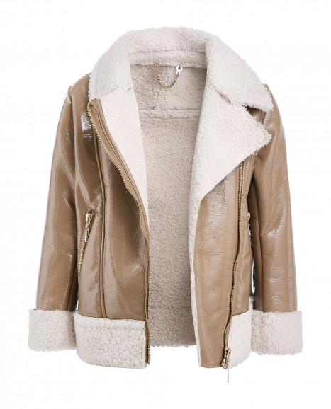 Бежевая демисезонная куртка