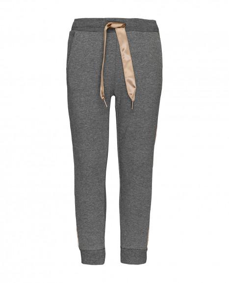 Серые меланжевые брюки