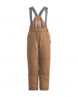 Бежевые утепленные зимние брюки Gulliver