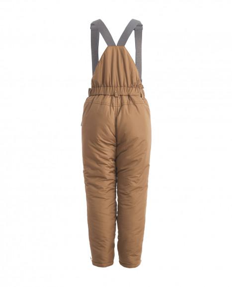 Бежевые утепленные зимние брюки