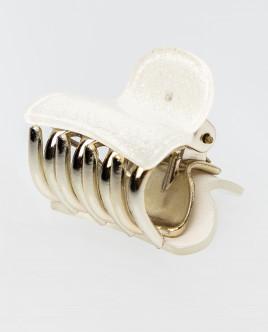 Белая заколка-краб Gulliver