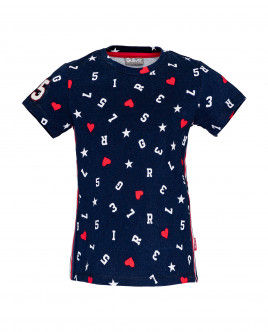 Blue printed t-shirt Gulliver