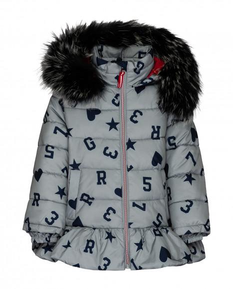 Серая зимняя куртка