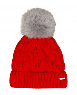 Red knitted lined hat Gulliver
