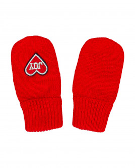 Red knitted mittens Gulliver