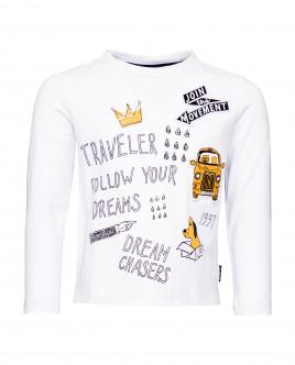 White long sleeve printed t-shirt Gulliver