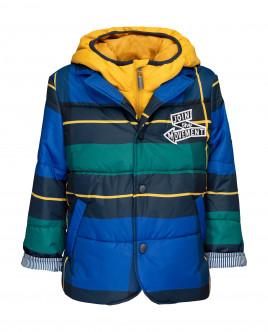 Клетчатая демисезонная куртка 21904BMC4103 фото