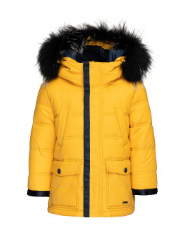 Yellow quilted jacket Gulliver