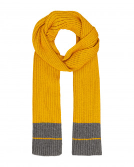 Yellow knitted scarf Gulliver