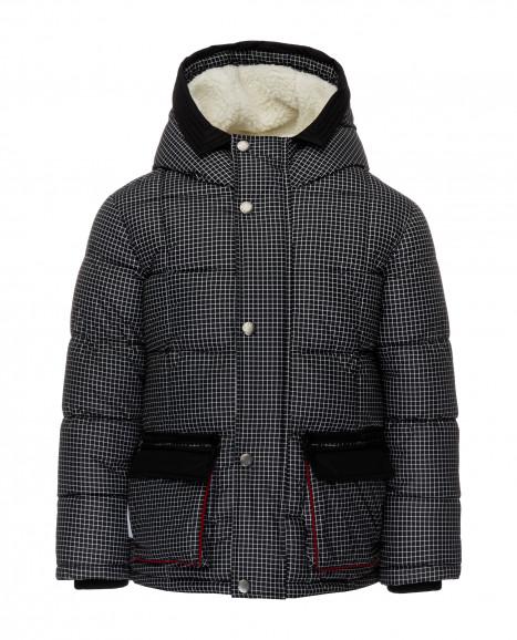 Клетчатая зимняя куртка