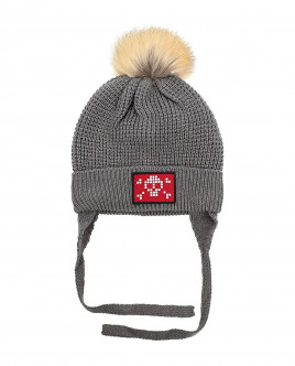 Grey knitted lined hat Gulliver