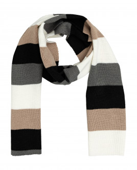 Striped knitted scarf Gulliver