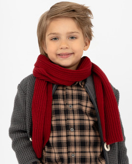 Red knitted scarf Gulliver