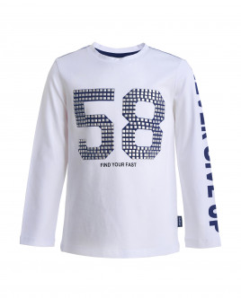 White long sleeve t-shirt Gulliver