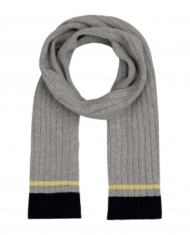 Grey knitted scarf Gulliver