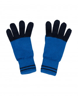 Blue knitted gloves Gulliver