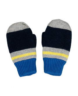 Striped knitted mittens Gulliver