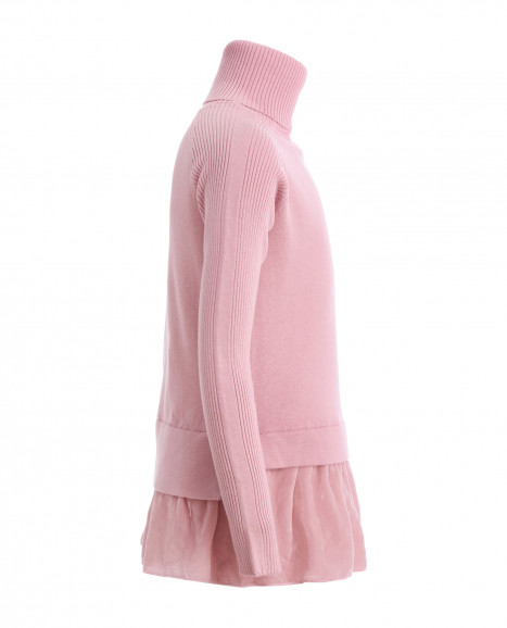 Розовая водолазка