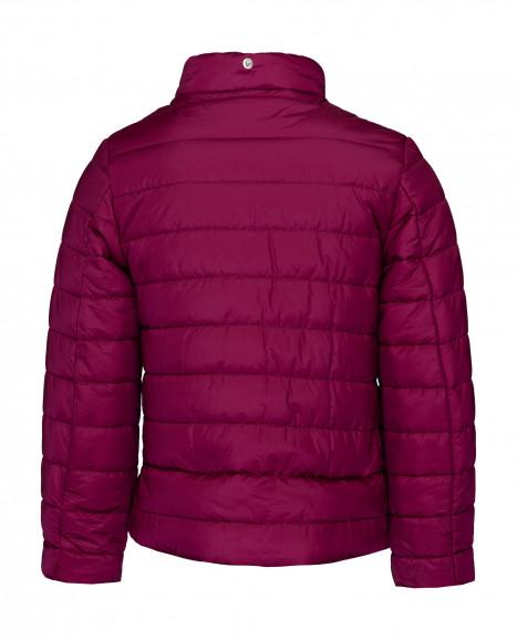 Малиновая демисезонная куртка