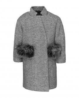 Серое пальто Gulliver