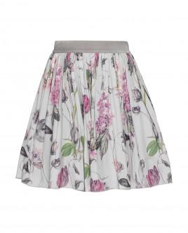 Серая юбка с орнаментом