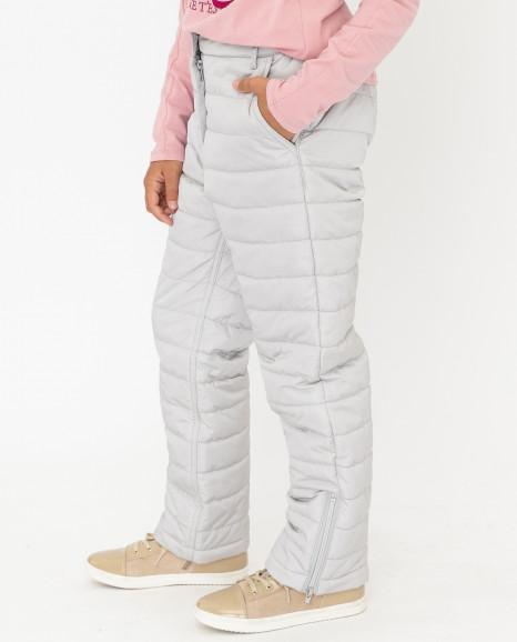 Серые утепленные зимние брюки