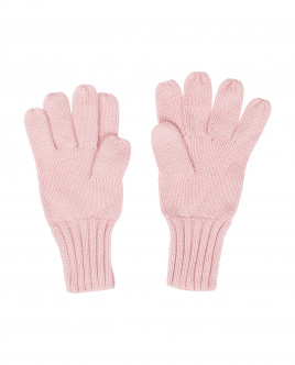 Pink knitted gloves Gulliver