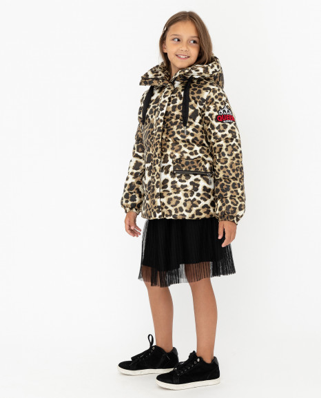 Зимняя куртка с леопардовым принтом