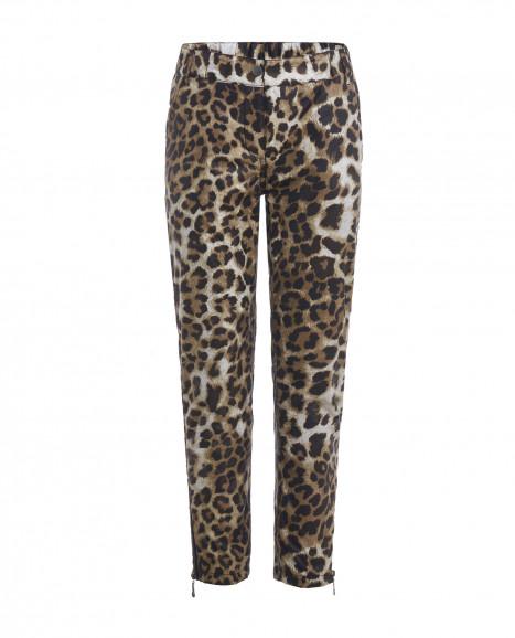 Демисезонные брюки с леопардовым принтом