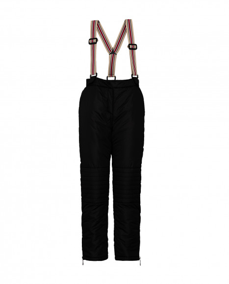 Черные утепленные зимние брюки