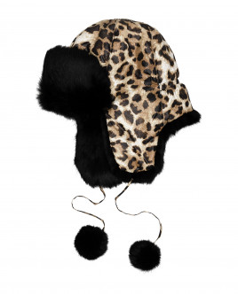 Printed hat with ear flaps Gulliver