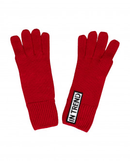 Red knitted gloves Gulliver