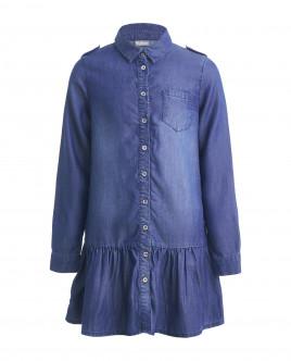 Купить 21909GJC2503, Синее джинсовое платье, Gulliver Wear, синий, 146, Женский