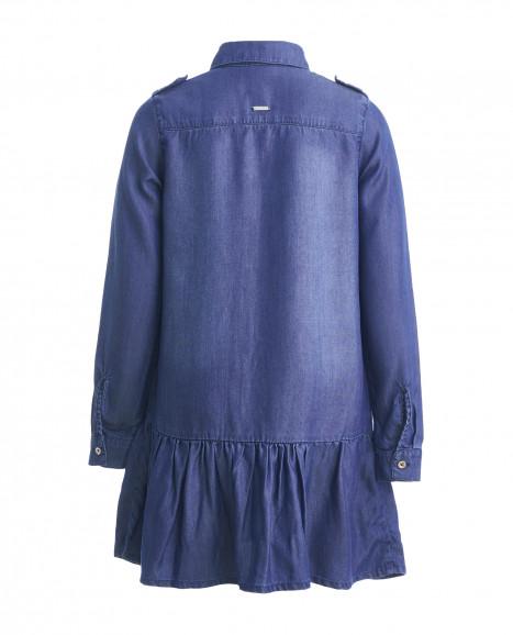 Синее джинсовое платье