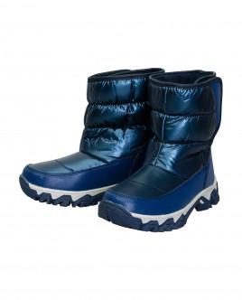Синие зимние сапоги