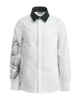 White printed shirt Gulliver