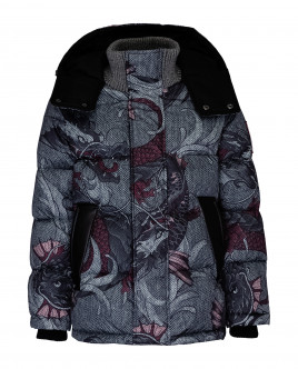 Grey ornate winter jacket Gulliver