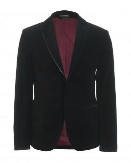 Черный бархатный пиджак Gulliver