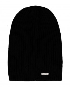 Черная вязаная шапка Gulliver