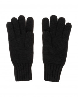 Black knitted gloves Gulliver
